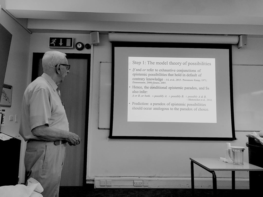Phil Johnson-Laird talking at LRW 2019